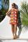 Juanita red sleeveless tina dress