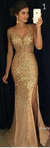 dress,gold,prom dress,gold dress,long dress,gown,champagne,sparkly dress,ball gown dress,seqin,long prom dress,sparkle,mermaid,crystal,mermaid prom dress,front splits,promdresssparkly,dressofgirl,champagne dress,slit dress,gold sequins,shiny gold dress,sexy long dresses,gold long dress,debs dress,debs,2016 prom dress,prom gown,prom,gold sequins dress,shiny dress,selfie,gold prom dress,glitter,v neck dress,sequins,formal,formal dress