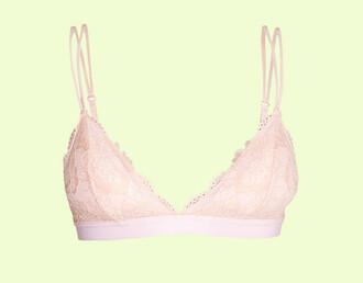 underwear bra bralette lace lace bra lace bralette soft bra sexy sexy lingerie lingerie pink pink bra light pink