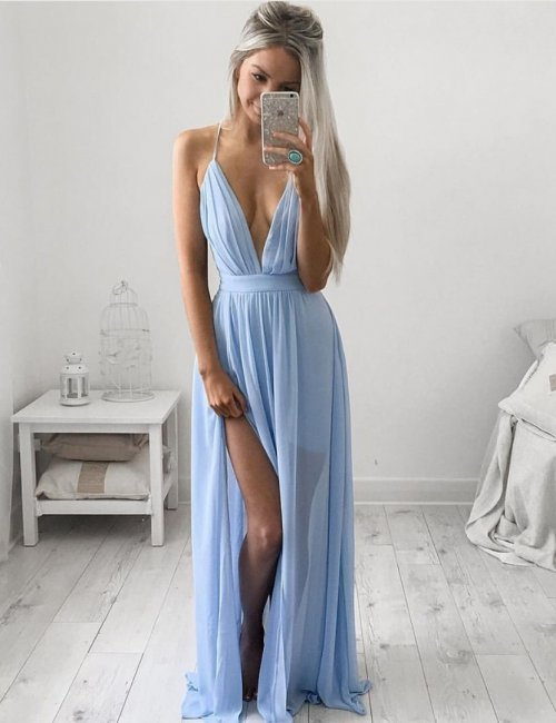 Women's Floor Length Split Leg Evening Dress