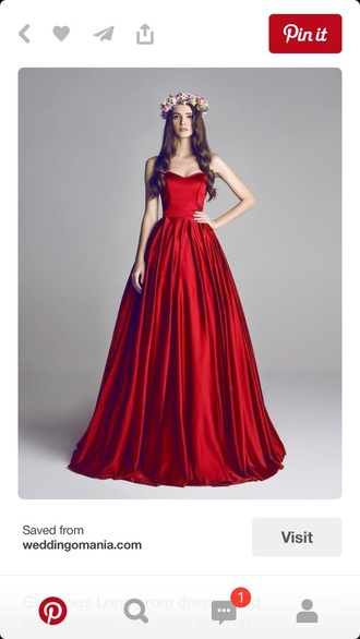 dress red dress pretty prom wedding bridesmaid