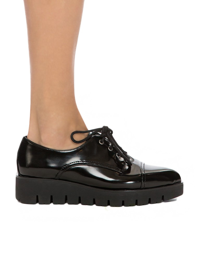 Black Pointed Creepers - Flatform Loafers - $82