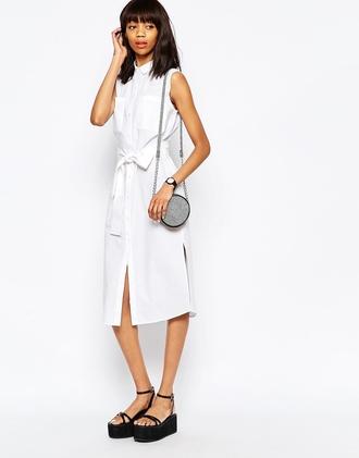 dress button up dress white dress shirt dress summer dress monki sleeveless dress