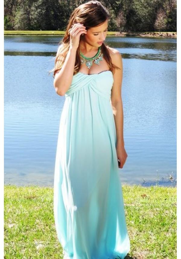 e09c48117c Mint strapless maxi dress with sweetheart neckline | Grecian Mint Dress |  escloset.com