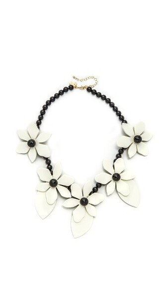 lovely statement necklace statement necklace cream jewels