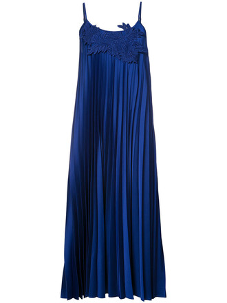 dress long women blue