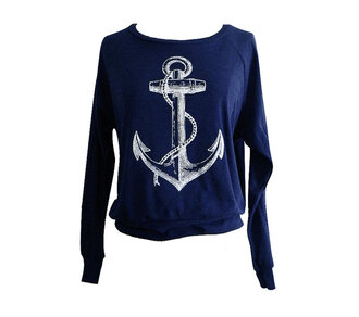 anchor blue sweater