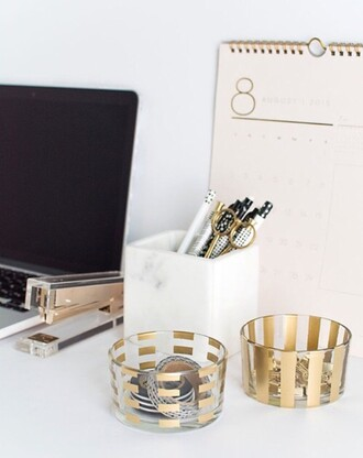home accessory classy gold desk office supplies stationary metallic home decor diy