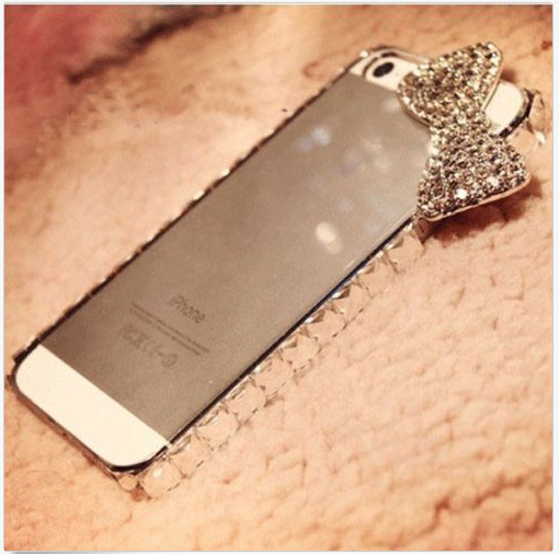 Crystal Bling Diamond Rhinestone Sweet Bow 3D Bowknot Clear Hard Back Frame Case Cover For iPhone 5 5S 5G Free Shipping Lots-in Phone Bags & Cases from Electronics on Aliexpress.com | Alibaba Group