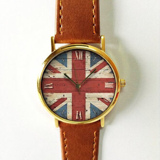 jewels watch flag british wood handmade style fashion vintage etsy freeforme summer spring gift ideas new