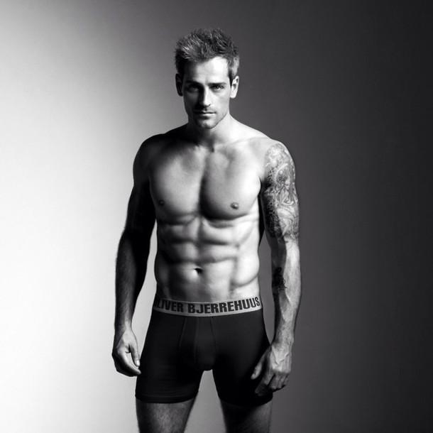 underwear black b&w white boxers oliver denmark danish