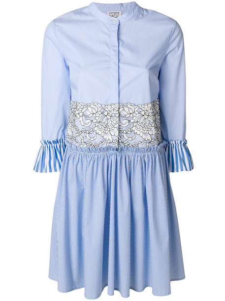 dress shirt dress women spandex lace cotton blue