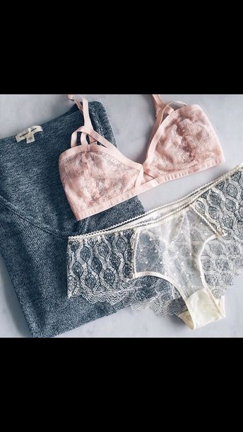 underwear boho peach lace panties lingerie grey sweater