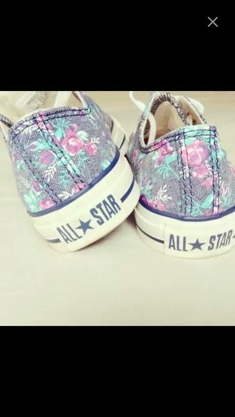 shoes flowers allstars