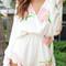 Floral long sleeves romper - lookbook store