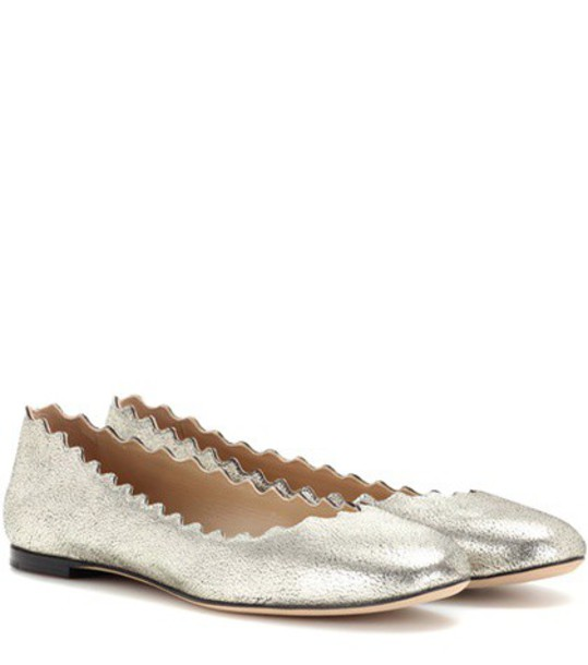 Chloe leather metallic shoes