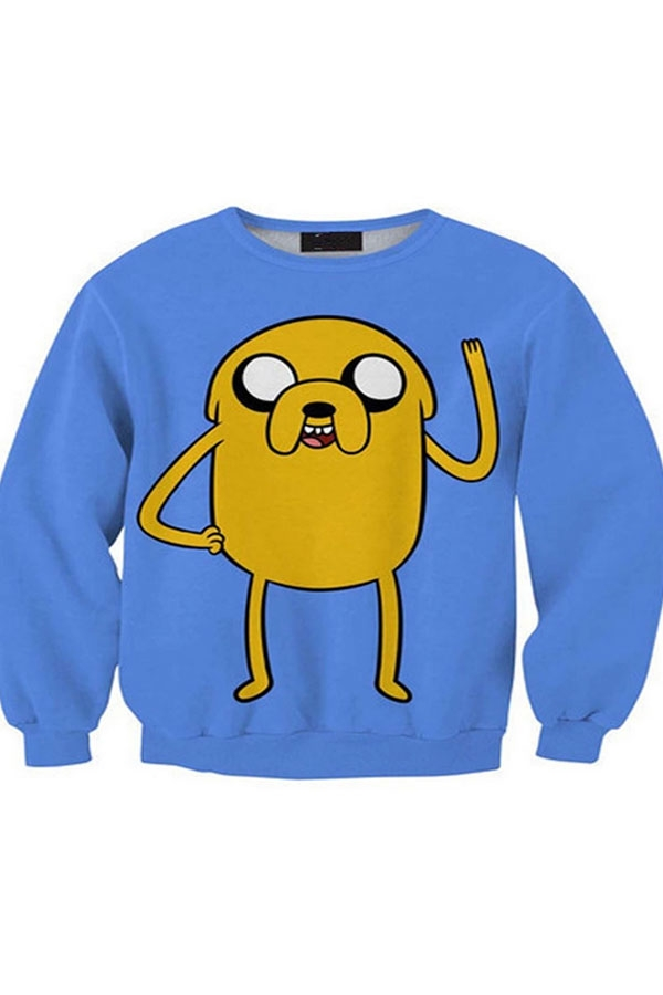 Blue Cartoon Sweatshirt - OASAP.com