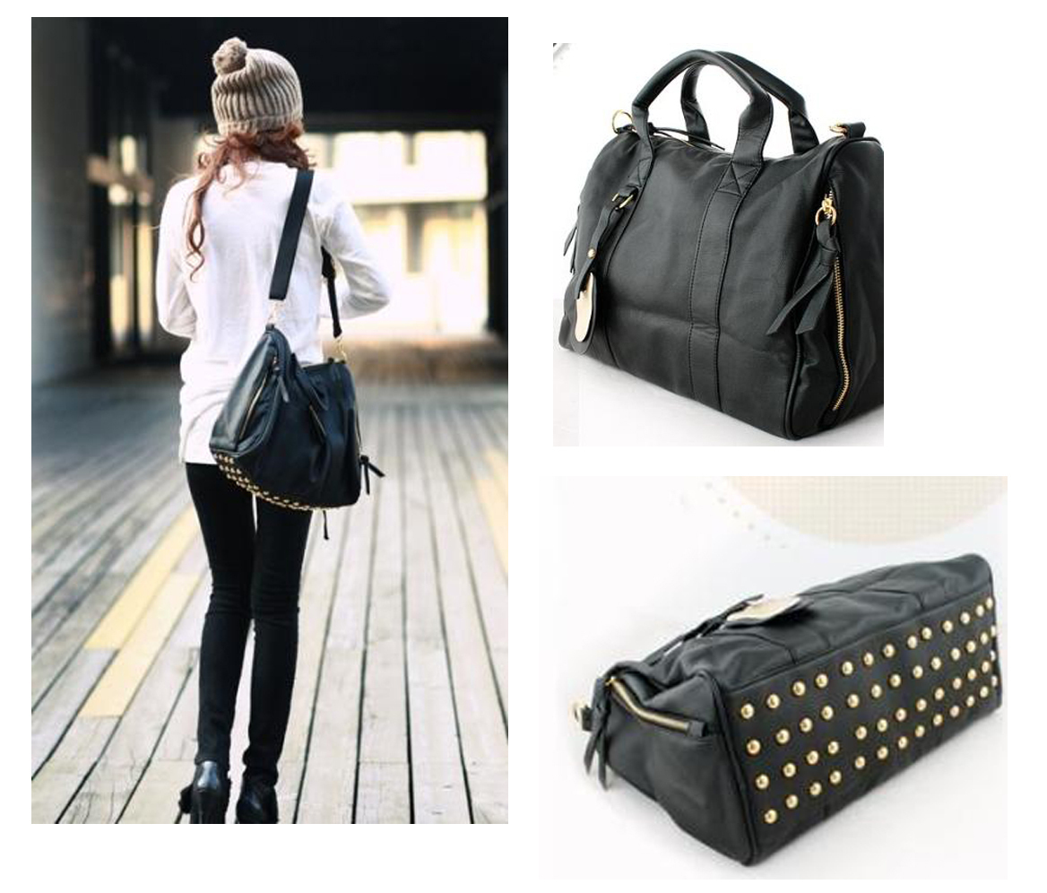 Korean Clutch Messenger Tote Women's Satchel PU Leather Shoulder ...