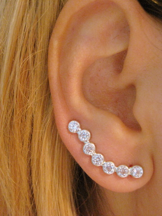 jewels ear swep jewelry boho jewelry minimalist jewelry earrings ear cuff ear piercings ear sweeps ear stud earing cuff ear climber sterling silver silver cubic zirconium love fashionista fashion chic