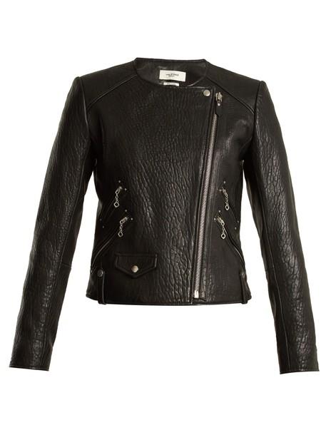 Isabel Marant etoile jacket leather jacket leather black