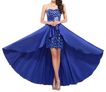 Bonnie clothing Women's Strapless Prom Dress High Low Sequins Beaded   Amazon.com