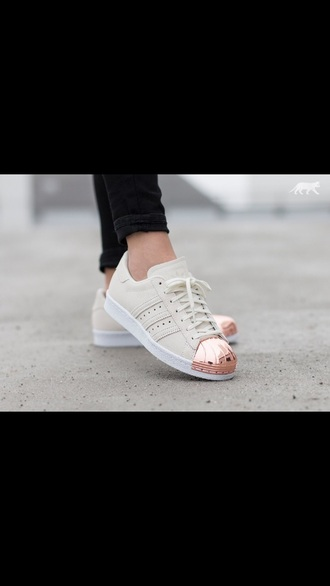 shoes nude sneakers adidas superstars adidas