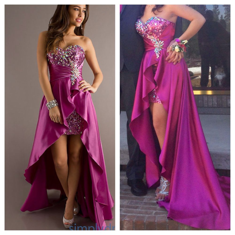 Starpless embellished high low dress by blush 9508
