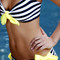 Sailor dreams yellow hand-made swarovski bandeau bikini – cynababy designer swimwear