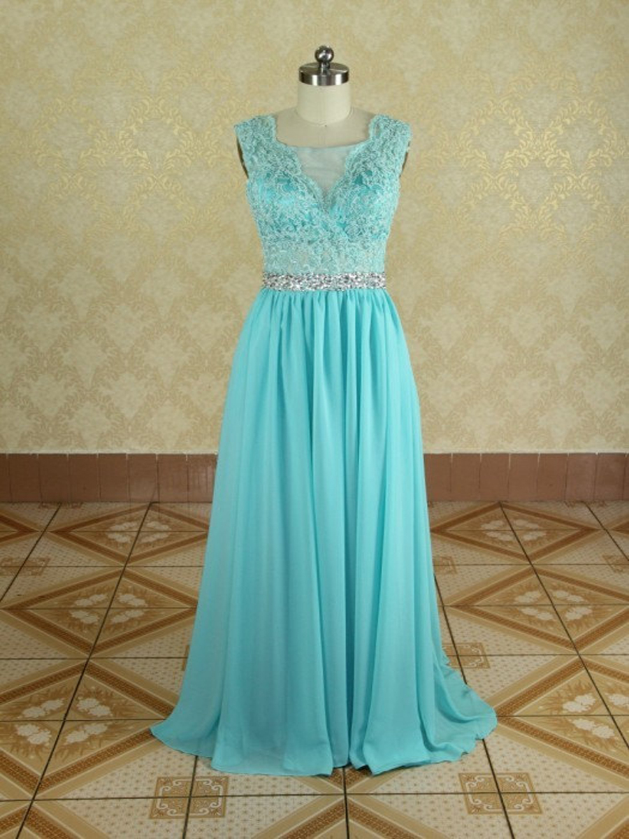 Aliexpress.com : Buy Beautiful Cheap Bridesmaid Dresses 2015 vestido de festa Green V Neck Lace Up Long Chiffon Bridesmaid Dress and See Through Back from Reliable dress pvc suppliers on DressHome
