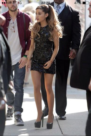 mini dress ariana grande high heels high-heels