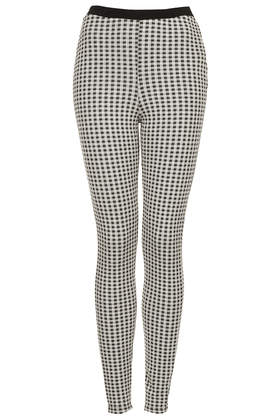 Gingham Jacquard Treggings - Leggings  - Clothing  - Topshop
