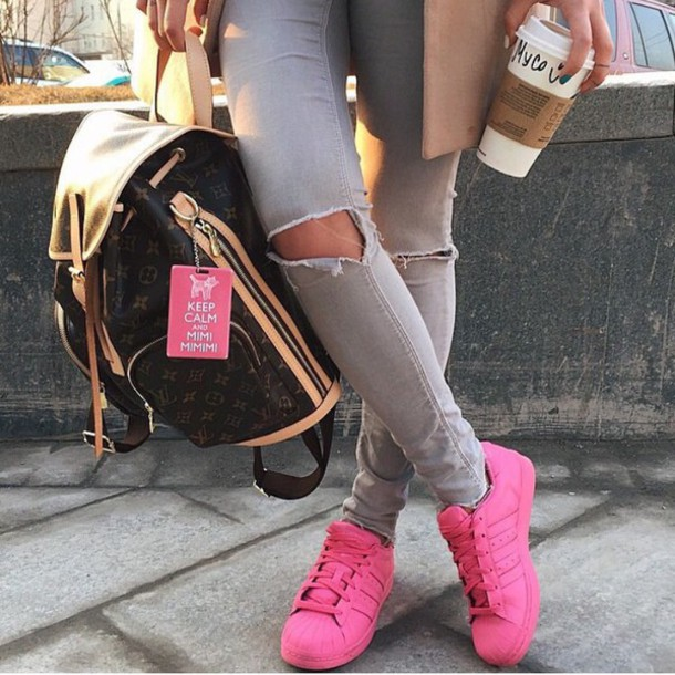 all pink superstar adidas