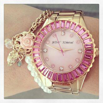 jewels watch betsey johnson bracelet trendy fashion jewelry