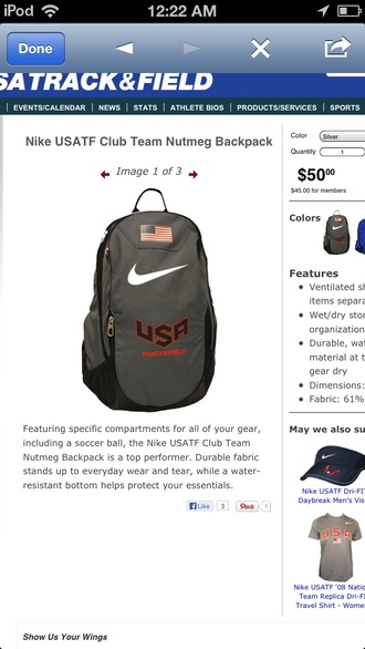 bag nike usatf american flag tf track and field