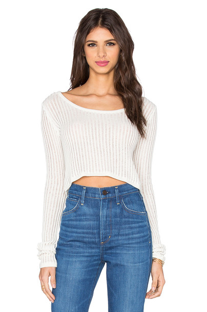 Cheap Monday sweater grid white