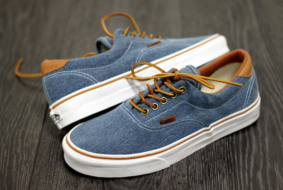 shoes vans low denim blue jeans