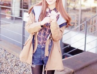jacket blouse caramel