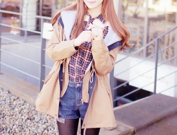 jacket caramel blouse