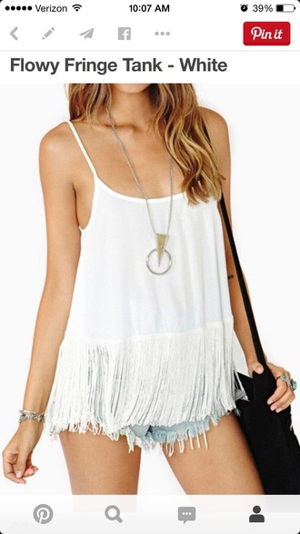 tank top tank fringe backless