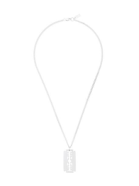 KTZ women necklace pendant grey metallic jewels