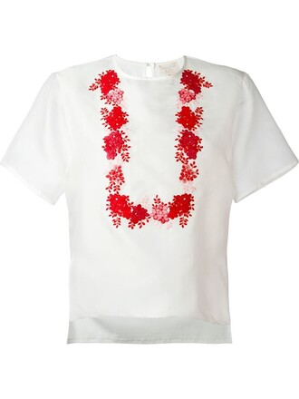 t-shirt shirt floral white top
