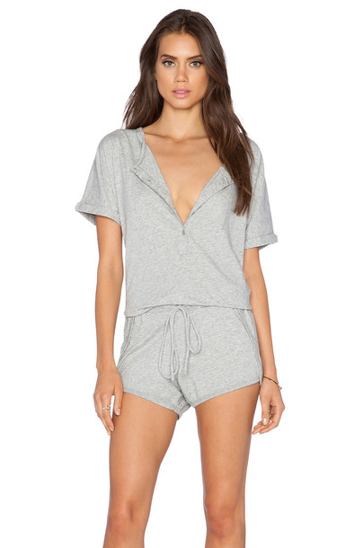 Bobi Supreme Jersey Short Sleeve Romper in gray