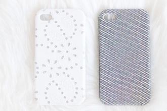 iphone iphone case iphone 5 case phone cover lace white blue flowers floral tumblr tumblr post floral phone case
