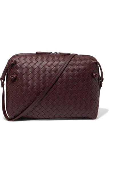 bag shoulder bag leather burgundy
