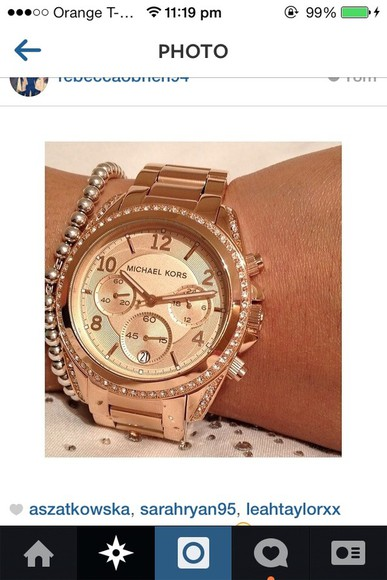 jewels rose gold michael kors watch