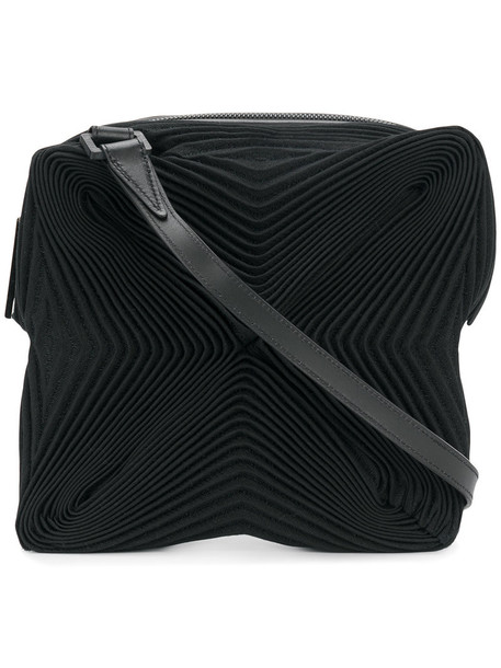 Issey Miyake pleated women bag crossbody bag cotton black