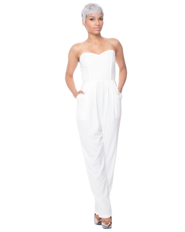 CHANTAL Jumpsuit in White – FLYJANE