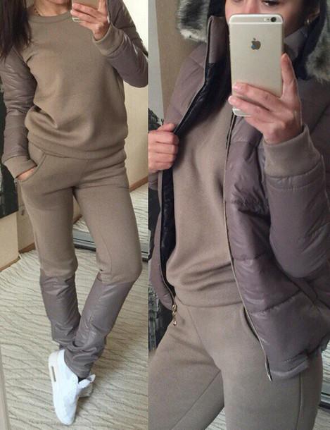 Sweater Warm Set Lingerie Set Matching Set Crop Top And Skirt