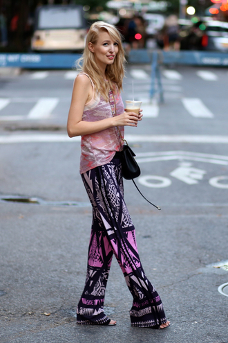 ohh couture blogger boho pants printed pants