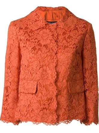 jacket women lace floral cotton silk yellow orange